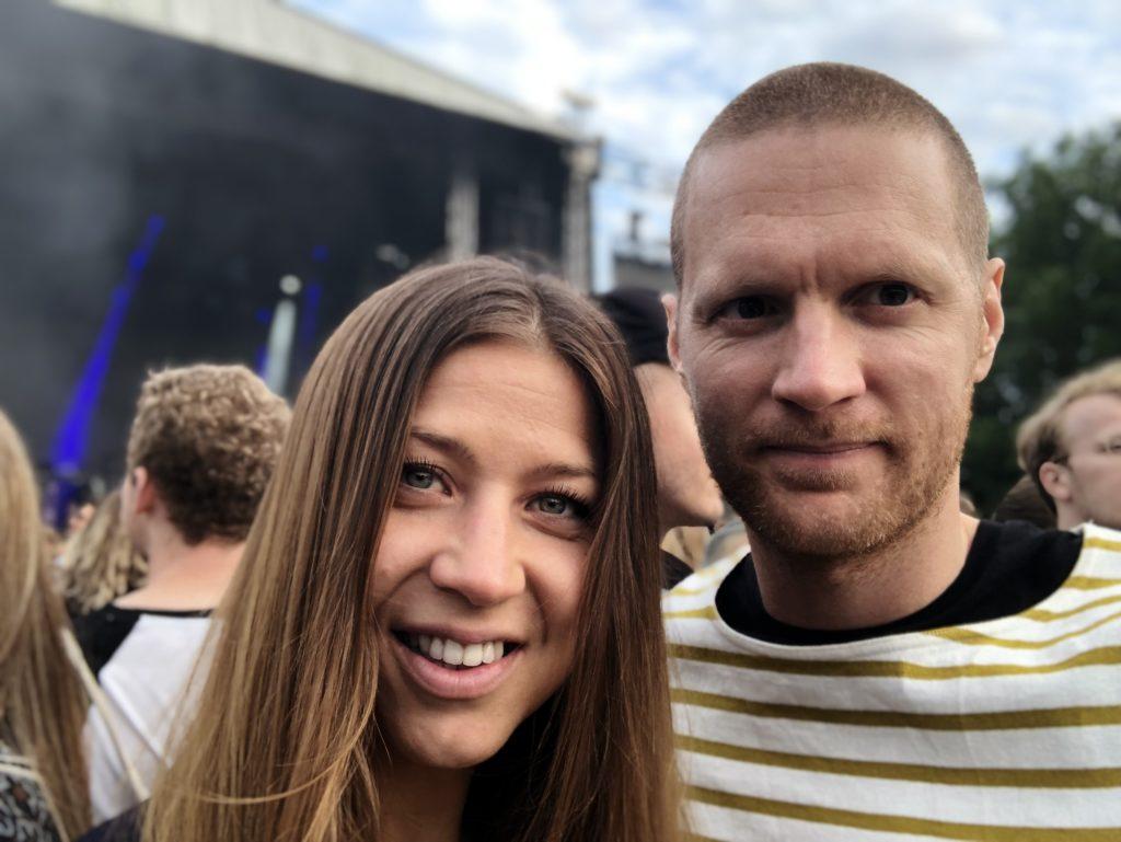 Elisabeth Svensson från RikaKvinnor med sambon Björn